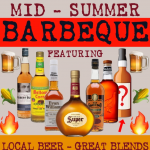 BBQ with BEER BLENDED SCOTCH BOURBON CORN WHISKY & CORN on the COB : BBBBCC